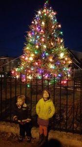 Poppenhusen Monument Christmas Tree
