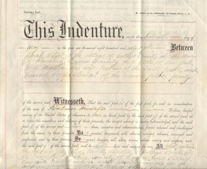 Poppenhusen Institute Original Deed