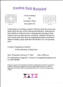 Freedom Quilt Workshop