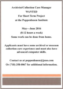 Archivist Wanted